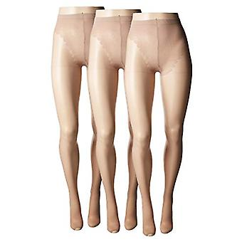 HUE Women-apos;s So Sexy Toeless Sheer with Lace Control Top Hosiery (3-Pack) Tan 3