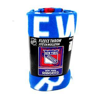 New York Rangers NHL Northwest Fleece Throw