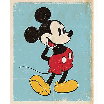 Mini plakat z minisycefonem Myszki Miki Retro