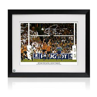 Jonny Wilkinson Signed 2003 Rugby World Cup Photo: Winning Drop-Goal. Framed