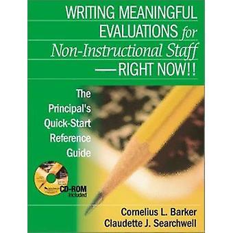 Rédaction d'évaluations significatives pour le personnel non-instructionnel - Droit Non