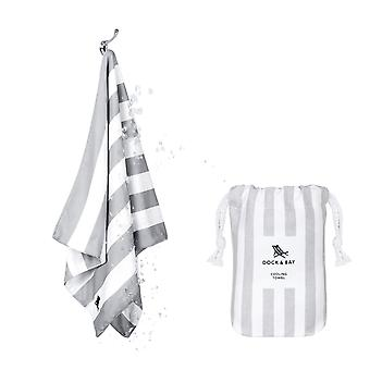 Dock & bay quick cool gym towel - goa grey