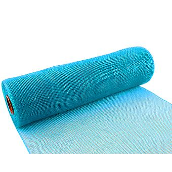 Turquoise 25cm x 9.1m Deco Mesh Roll for Wreath Making, Floristry & Crafts