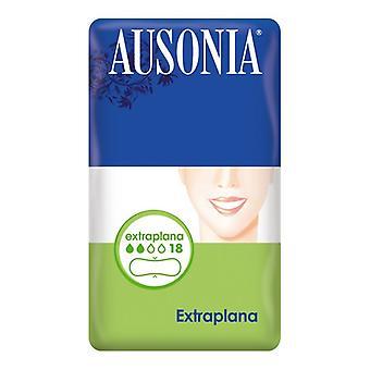 Ekstra flade sanitære puder Ausonia (18 uds)