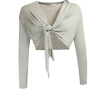 Lauren Vidal Grey Cropped Cardigan