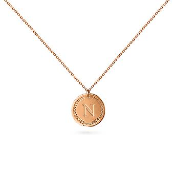 Necklace Medal 1 Letter 18K Gold