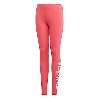 adidas Essentials Linear Girls Kids Sports Legging Tight Pant Pink