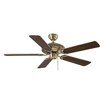 """Ceiling fan CENTURION Brass 132cm / 52"""" with pull cord"""