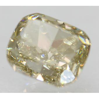 Cert 1.51 Carat Brown Yellow VVS2 Cushion Natural Loose Diamond 6.68x5.75mm