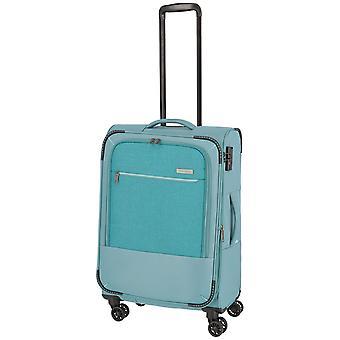 travelite Arona Trolley M, 4 rollen, 66 cm, 56 L, turquoise