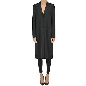 Dondup Ezgl030265 Women's Black Viscose Coat
