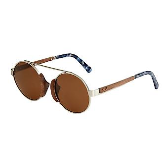 Earth Wood Anakena Polarized Sunglasses - Brown/Brown