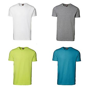 ID Mens korte mouw uitgerust Slimline Stretch T-Shirt