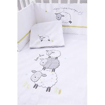Silvercloud Counting Sheep 4 piece Space-Saving Cot Bedding set
