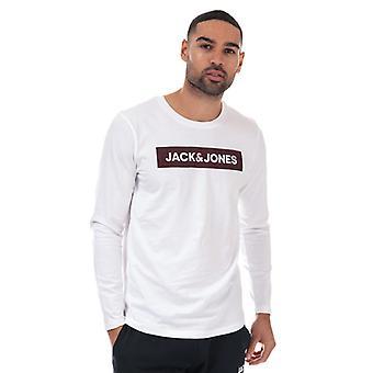 Men's Jack Jones Brian Long Sleeve T-Shirt in White