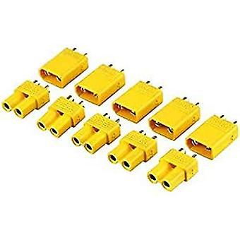 Yunique Italia-XT30 Xt30 di Alta qualità Maschio-Femmina Connettori per Batterie da Modellismo Rc Lipo 5 Paia Colore Giallo 6Q-WLNY-9XIJ