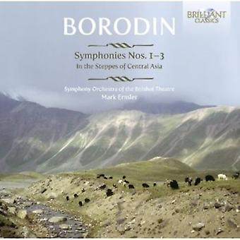 Alexander Borodin - Borodin: Symfonier 1-3; i stäpperna i Centralasien [CD] USA import