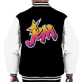 Jem And The Holograms Classic Faded Logo Men's Varsity Jacket