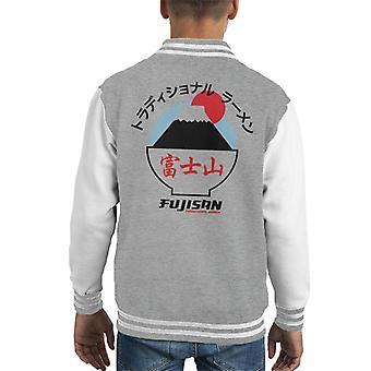 The Ramen Clothing Company Fujisan Traditional Ramen Black Text Kid's Varsity Jacket