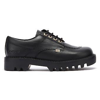 Kickers Kizziie Derby Womens Black Leather Shoes