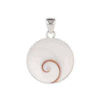 ADEN 925 Sterling Srebrny Shiva Eye Naszyjnik wisiorek (id 262)
