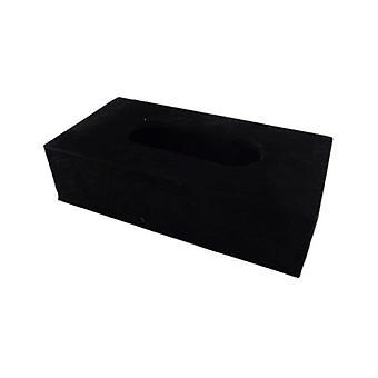 Cowhide Tissuebox Black