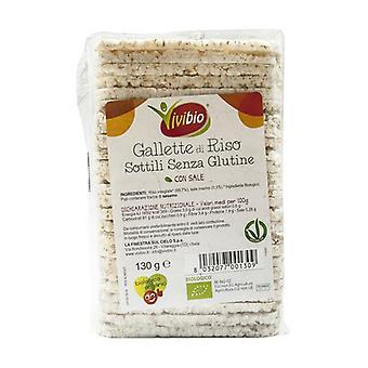 Tortas de arroz sin gluten finas 130 g