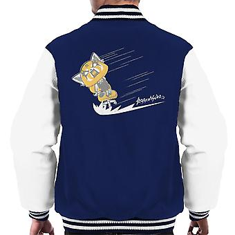 Aggretsuko Retsuko Scream Sketch Design Men's Varsity Jacket