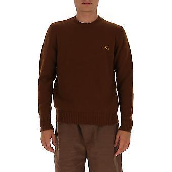 Etro 1m50096850150 Männer's braune Wolle Pullover
