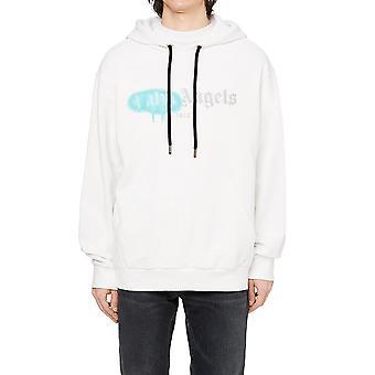 Palm Angels Pmbb003f20fle0020148 Homme-apos;s White Cotton Sweatshirt