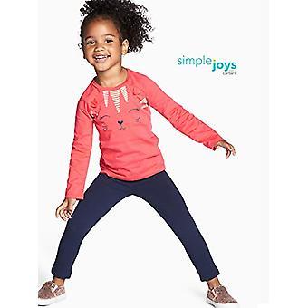 Simple Joys de Carter's Girls' Toddler 2-Pack Fleece Leggings, Pink/Navy, 5T