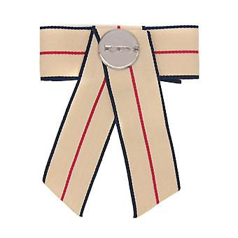 Bow Broche Pin met Diamond for Women Beige 12x10CM