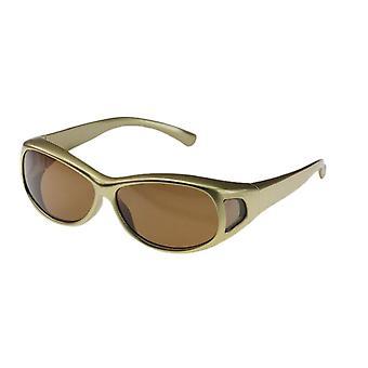 Sunglasses women's gold with brown lens Vz0007pr