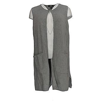 Dennis Basso Women's Sweater Vest  Gray A367882