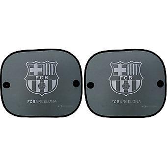 zonneschermen FC Barcelona zijraam 36 x 44 cm 2 stuks