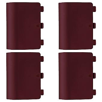 Replacement battery back cover holder for red microsoft xbox one controllers & 4 pack red