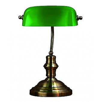 Bankers Oxidized 1-light Table Lamp