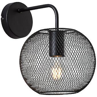 BRILJANTE Soco wandlamp zwarte binnenverlichting, wandlampen | 1x A60, E27, 40W, geschikt voor normale lampen (niet inbegrepen)
