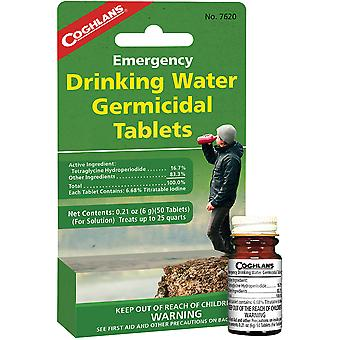 Coghlan's Emergency Drinking Water Germicidal Tablets (50 ct), Potable Treatment