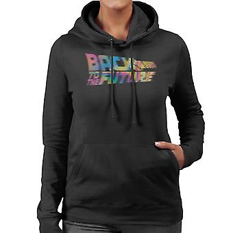 Back to the Future Logo Psychedelic Blur Women's Hooded Sweatshirt