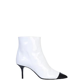 Msgm 2742mds605818401 Kvinder's Hvid Læder Ankel Støvler