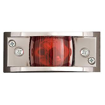 Optronics MC81-RS Chrome Plated Clearance Light Red