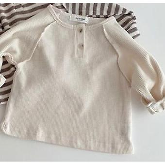 Striped Infant Blouse, Brief Toddler Base Shirt With  Long Sleeve