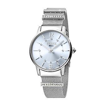 Ferre Milano Women's FM1L102M0201 Light Blue Stainless Steel IP Wristwatch