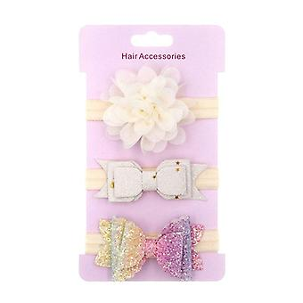 Baby Headband Crown Flower Bows Hairband, Neonato Bambina Elastica Baby Hair
