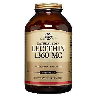 Solgar Lecithin, 1360 mg, 250 Softgels