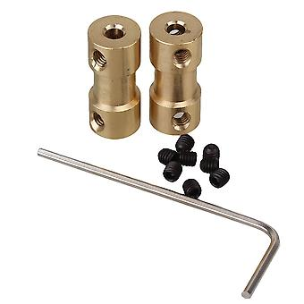 2 x Motor Drive Bass Shaft Coupling Coupler Connector 3 x 4mm Sleeve With Screws