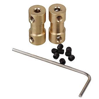 2 db motorhajtású tengelykapcsoló csatlakozó 3 x 4 mm-es hüvely csavarokkal