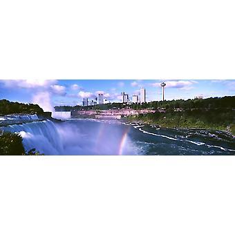 Regnbåge över Niagarafallen Ontario Kanada affisch Skriv