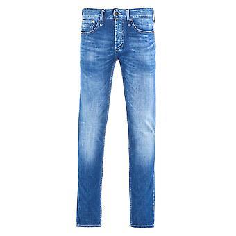 Denham Razor Left Hand Denim Washed Mid Blue Slim Fit Jeans